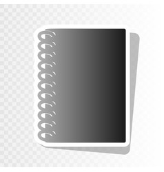 notebook simple sign  new year blackish vector image