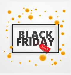 Black friday sale discount offer poster with vector