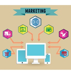 Concept of media marketing vector
