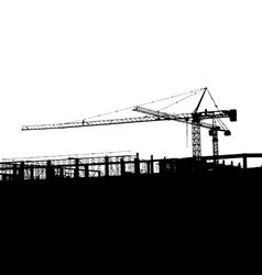 Crane silhouette vector