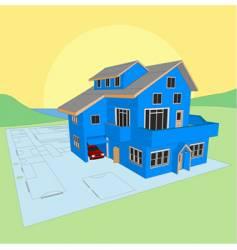 dream home blueprint vector image