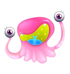 An excited pink monster vector