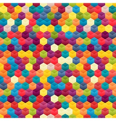 Seamless Background of Hexagons vector image