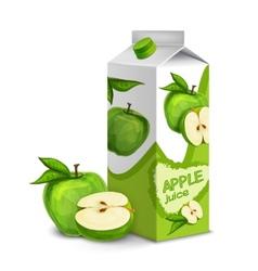 Juice pack apple vector image