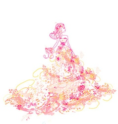 Beautiful princess - doodle vector
