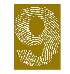 Fingerprint alphabet no 9 vector