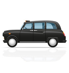 London car taxi vector