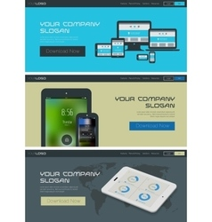 Website header or banner template vector