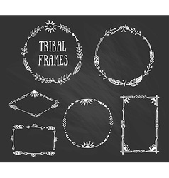 Set of wreaths and frames with place for your text vector