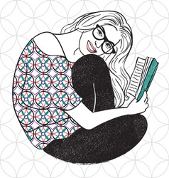 Curl up and read a book vector