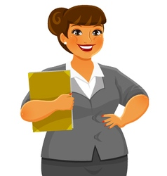 Curvy business woman vector