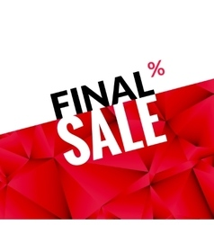 Final sale banner background promotional vector