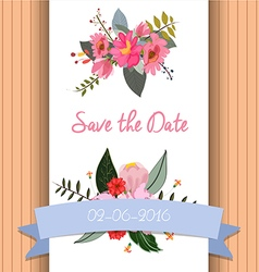 Save the date invitation template vector