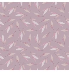 seamless pattern with branches of leaves in vector image