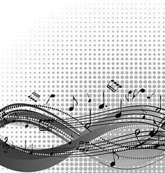 Background with stave and musical notes vector image
