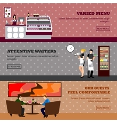 Cafe design of coffee shop vector