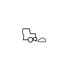 car exhaust icon vector image vector image
