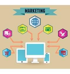 Concept of media marketing vector image vector image