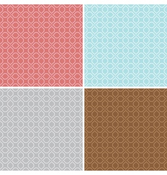 geometric seamless patterns - set vector image vector image