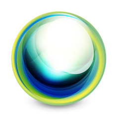 glass sphere futuristic abstract element vector image vector image