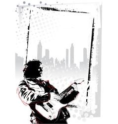 guitarist poster vector image vector image