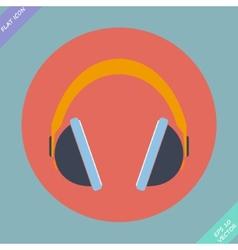 Headphones icon - vector image vector image