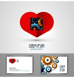 heart logo design template love or health icon vector image vector image
