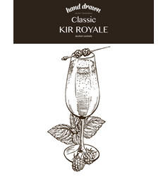 kir royale composition vector image vector image