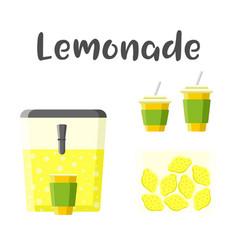 lemonade set colorful constructor vector image