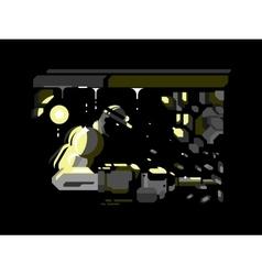 Miner character design flat vector image vector image