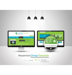 Modern Flat Style UI interface design elements vector image vector image