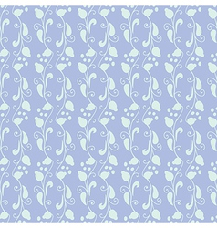 Neutral floral ornament blue lilac tone vector image