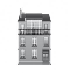 Parisian style house vector