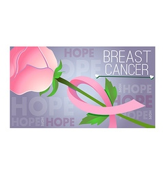 pink ribbon of thread Banner 3 vector image vector image