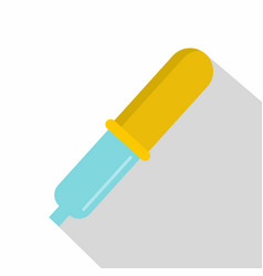 Pipette icon flat style vector