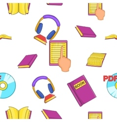 Reading pattern cartoon style vector