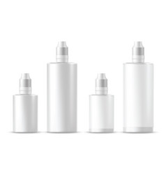 Realistic white cosmetic bottles vector