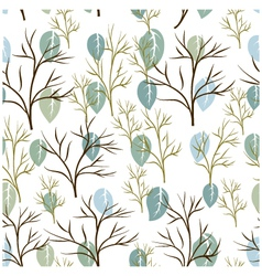 Seamless pattern of leaf and tree vector image vector image