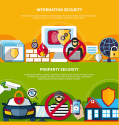 security and safety banners set vector image vector image