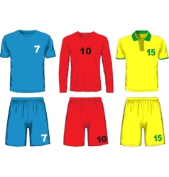 Set of different soccer uniform vector image