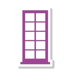 Silhouette with office building in purple vector