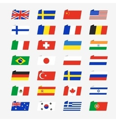 Simple flags of the countries vector image