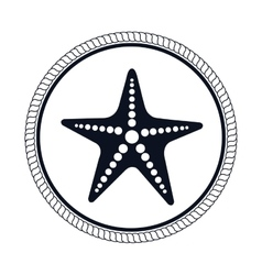star fish emblem isolated vector image vector image