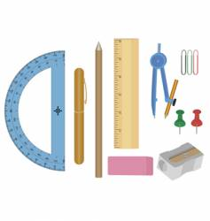 stationery equipment vector image vector image