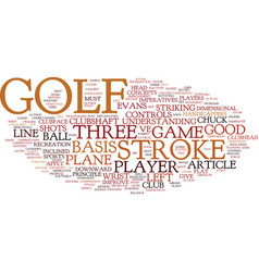 The basis of golf text background word cloud vector