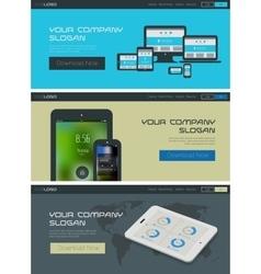 Website header or banner template vector