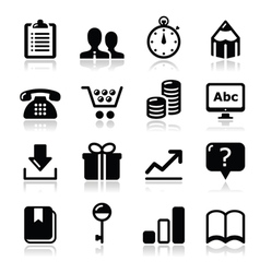 Website internet icons set vector image