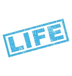 Life rubber stamp vector