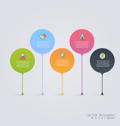 Timeline infographic design templates charts vector