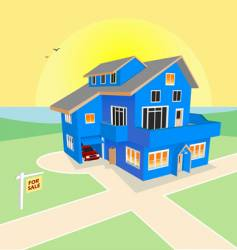 Dream home for sale vector
